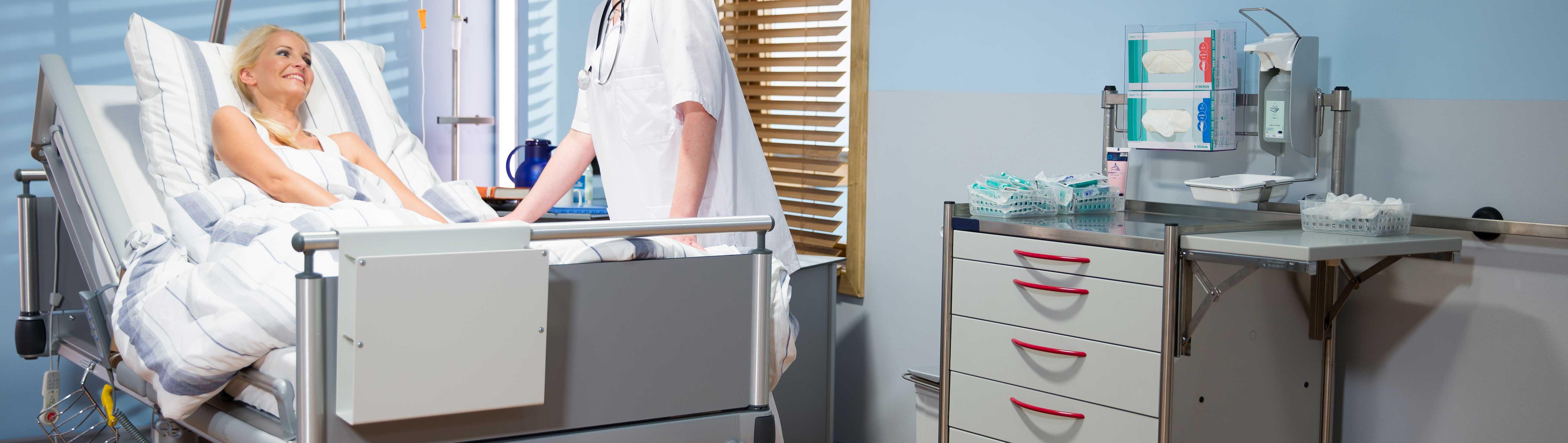 Pflegemodulwagen aus Edelstahl (PME)
