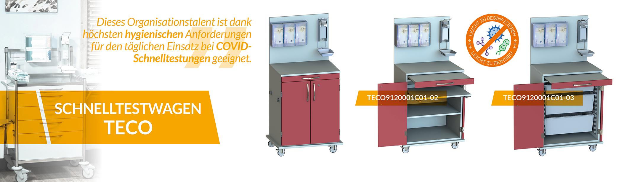 Produktneuheit - Schnelltestwagen TECO