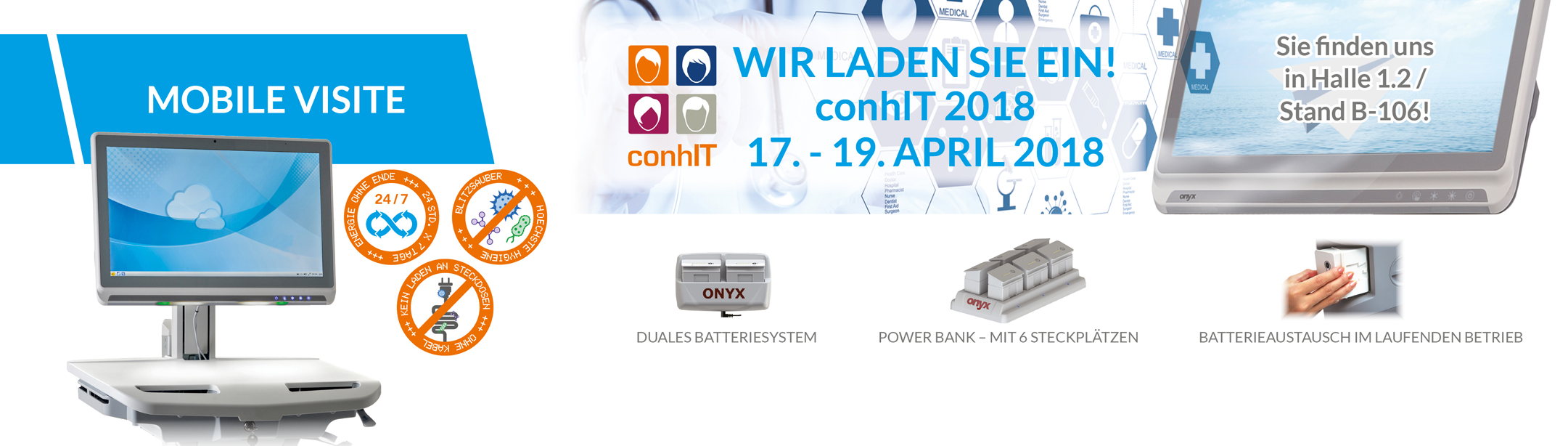 conhIT 2018 | Halle 1.2 Stand B-106!