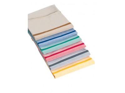 farbig, mit zwei vollfarbigen Kennstreifen