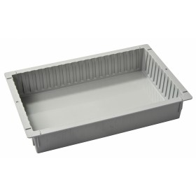 Closed ISO tray ABS, light grey