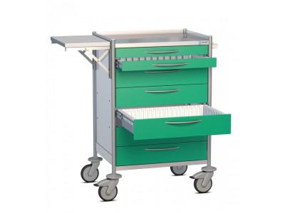 Pflegemodulwagen mit Zubehör