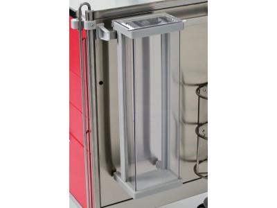 Katheterköcher mit Deckel Mat.: PE500 lichtgrau/PETG