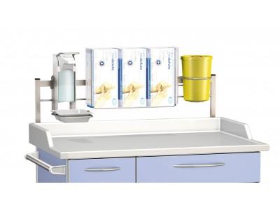 Bild zeigt PXZ HSP 2-3 T und Desinfektionsmittelspender sowie Septobox