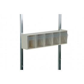 5-fach FIFO-Klappbox Kunststoff, grau-weiß