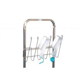 Urinflaschenhalter für Hakenwagen u. Wandhakenschiene