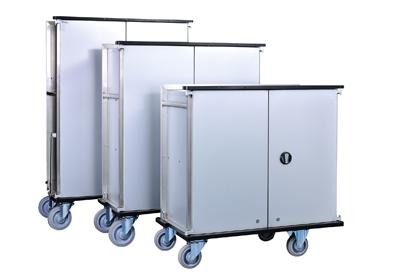Schrankwagen aus Aluminium-Edelstahl