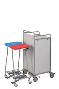 Koppelsammler für Frischwäsche und Schmutzwäsche