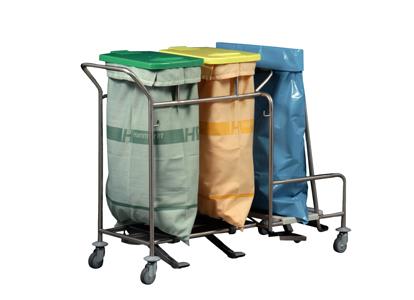 Unisammler für Wäsche und Abfall