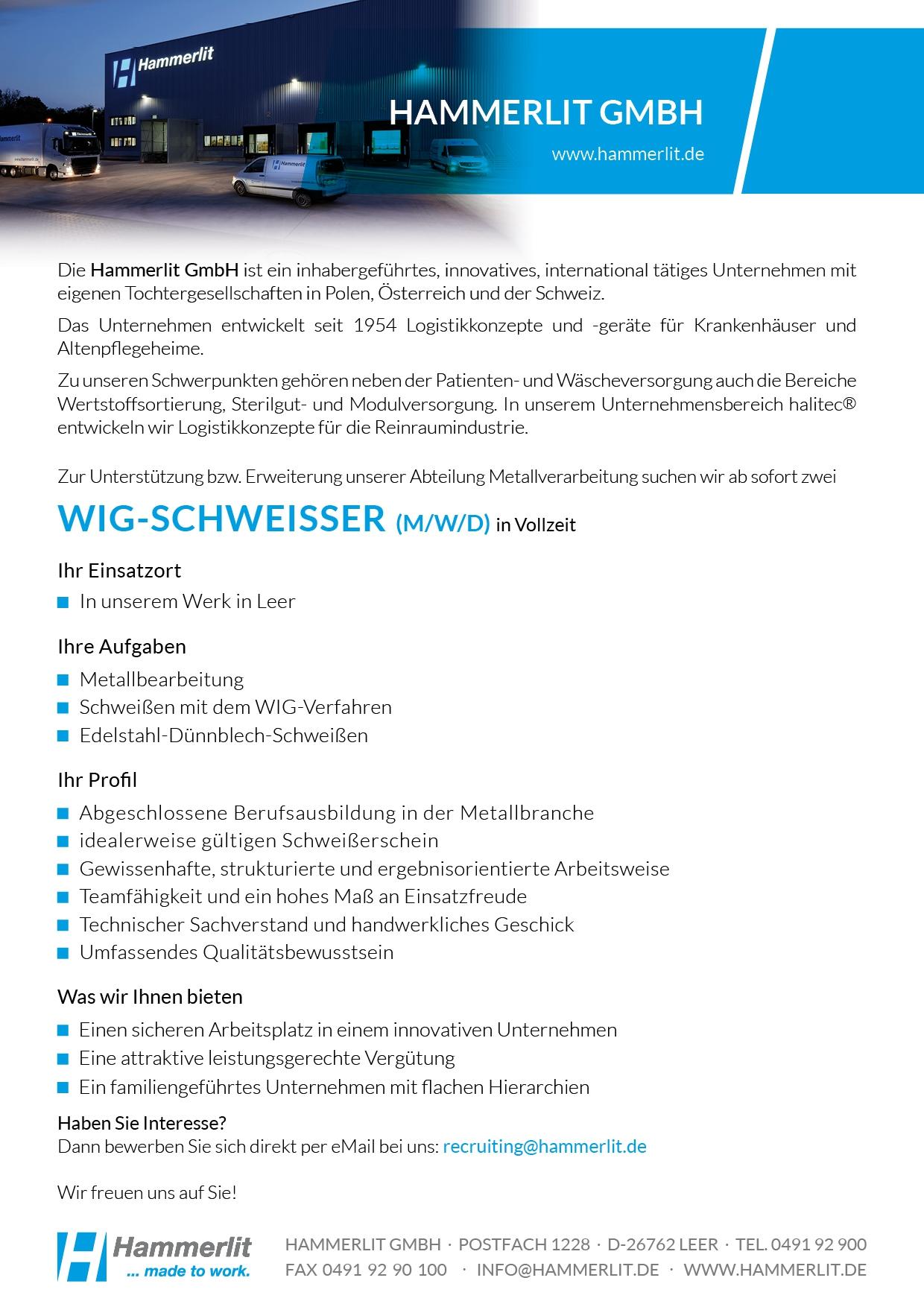 WIG-Schweißer_Hammerlit GmbH